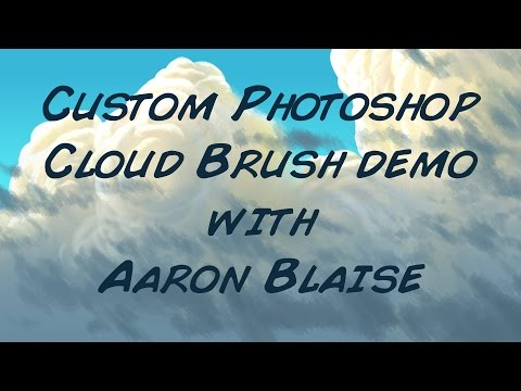 Aaron Blaise Custom Photoshop Cloud Brushes