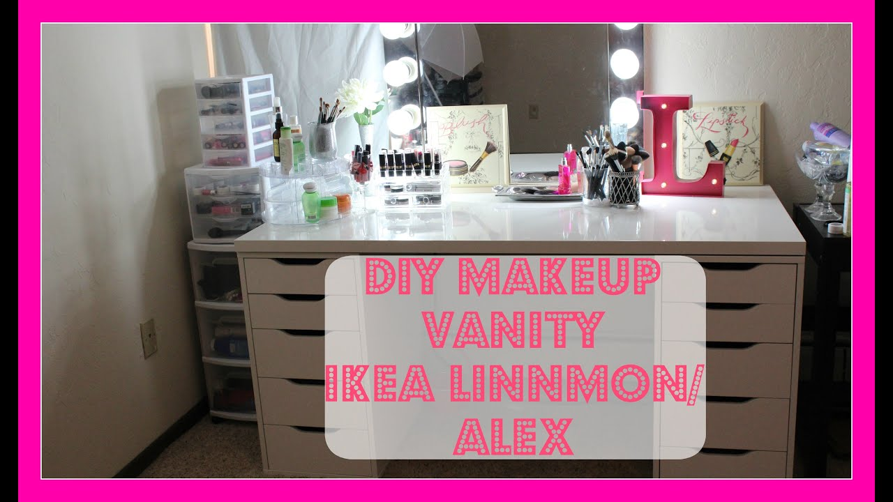 Ikea Makeup Vanity Linnmon and Alex Drawers Finding My