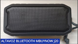 Altavoz bluetooth MBuynow J20: Unboxing