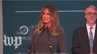 Melania Trump speaks about civility and online behavior