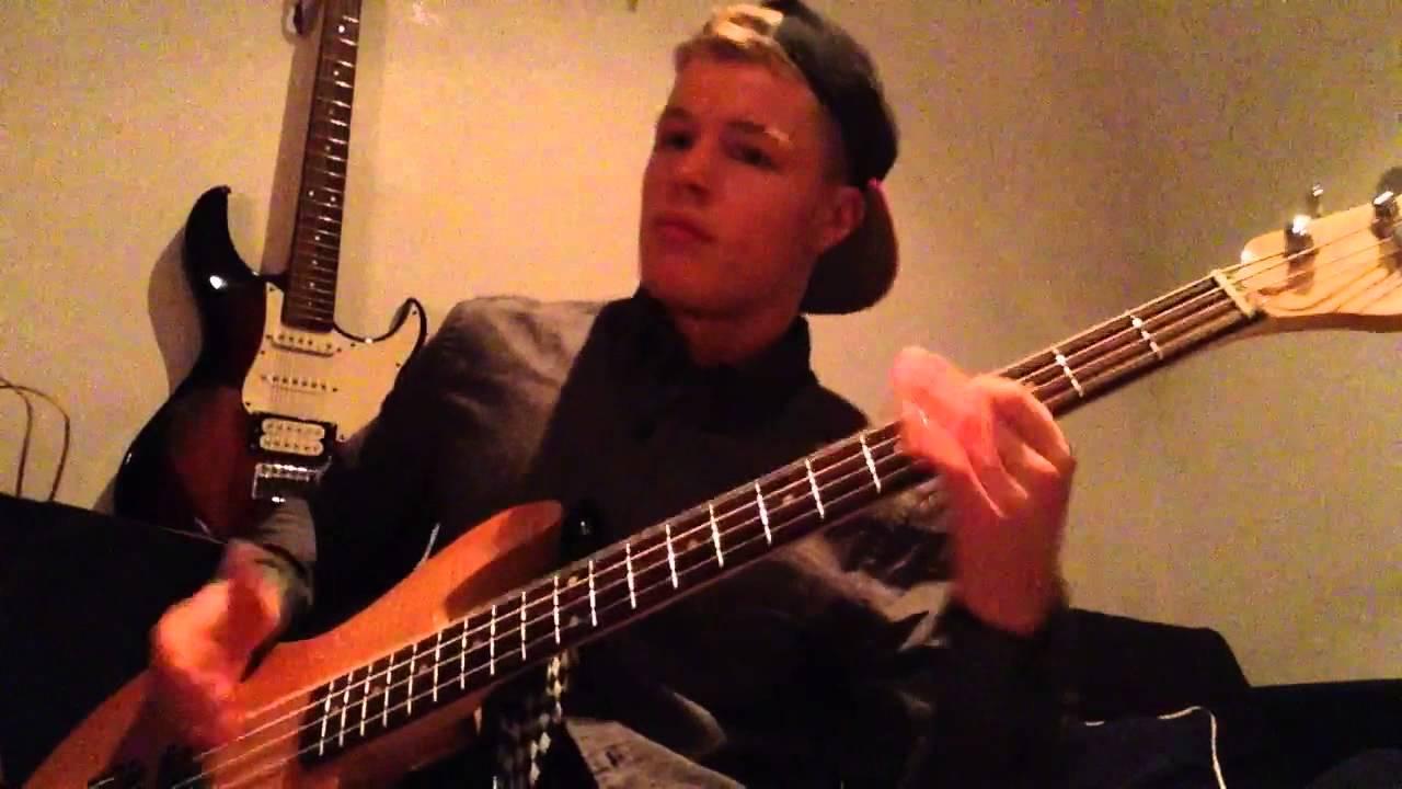 Slap bass funk improvisation with drums