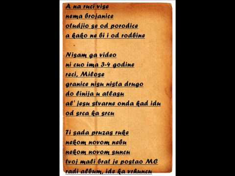 Marcelo feat. Nevena - Pismo bratu (tekst) - YouTube