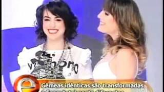 O cabeleireiro Rodrigo Cintra mudando o visual de gemeas idênticas