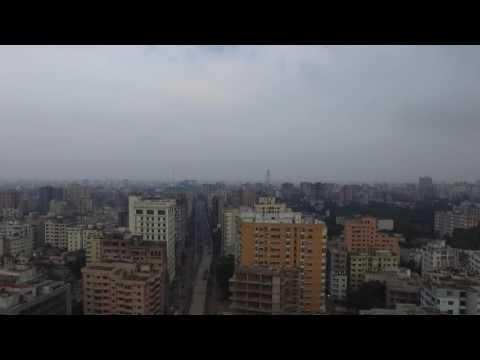 DJI Phantom fly over Dhaka City