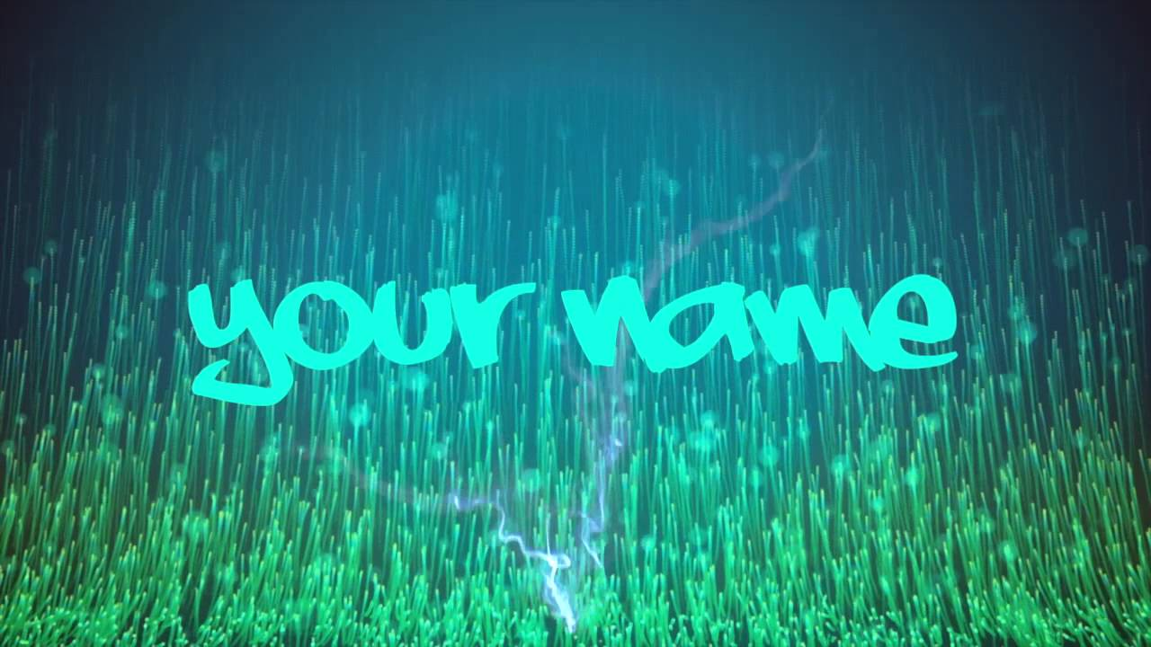 cool free intro template 3 green blue lightning fusion mp4
