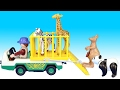 Playmobil Zoo Park Kangaroo Transport and Animal Care Station Playsets - Animals For Kids Musik Video