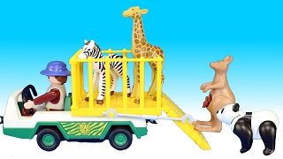 Playmobil Zoo Park Kangaroo Transport and Animal Care Station Playsets - Animals For Kids