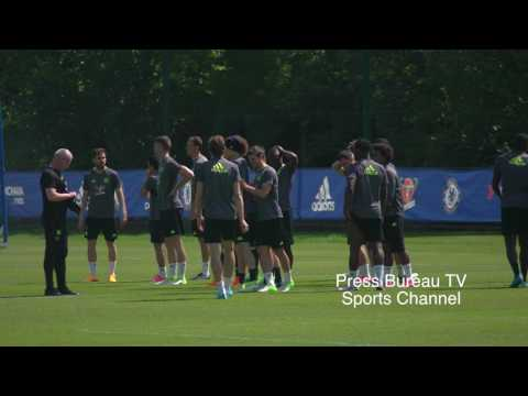 Chelsea Training pre Chelsea vs Arsenal FA CUP FINAL