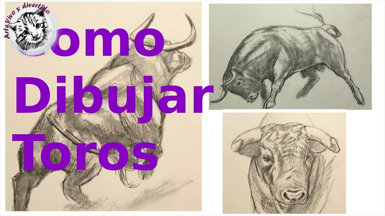 Cómo Dibujar Un Toro Técnica De Dibujo De Animales Youtube
