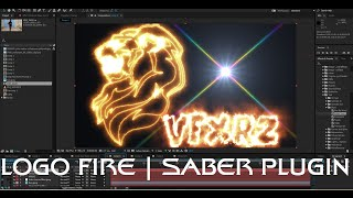 Tutorial Convert logo and Vector to Fire with Video Copilot SABER | Adobe After Effects CC 2015