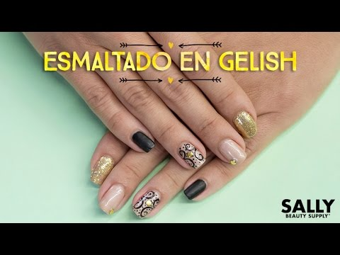 Decoraci n de u as con esmalte en gel gelish youtube - Unas decoradas con esmalte ...