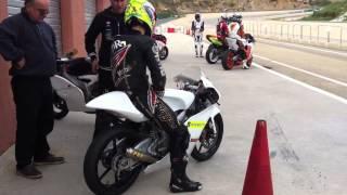 Johann Zarco Prepares to ride Moto3 bike