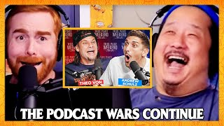 Andrew Santino and Bobby Lee's Reaction to Theo Von and Andrew Schulz | Bad Friends Clips