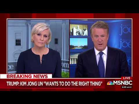"""MSNBC's Scarborough: Americans Are Waking Up Saying """"Good On"""" Trump For Making The Summit Happen"""