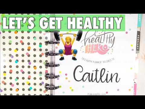 HAPPY PLANNER GIRL HEALTHY HERO | FITNESS PLANNER SET UP | LOW CARB WELLNESS JOURNEY