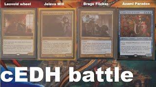 Leovold vs Jeleva vs Brago vs Azami cEDH gameplay