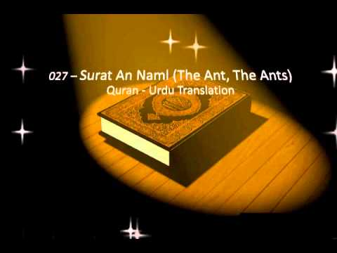 Surah An Naml - Urdu Translation Only - Surah 27