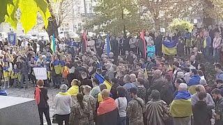 """Протест """"Ні Капітуляції"""" у Львові. Наживо"""