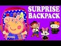 SURPRISE BACKPACK Peppa Pig Play Doh Eggs Mickey Minnie Mouse Frozen Hello Kitty Jake Neverland