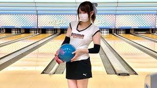 ボウリング女子の練習風景87(Bowling Practice)2021/7
