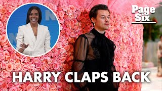Harry Styles breaks silence on Candace Owens' Vogue comments | Page Six Celebrity News