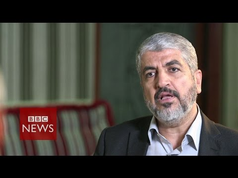 'We want ceasefire parallel with lifting of siege on Gaza' Hamas leader Khaled Meshaal - BBC News