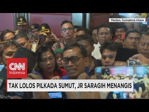 Tangis JR Saragih Usai Tak Lolos Pilkada Sumut 2018