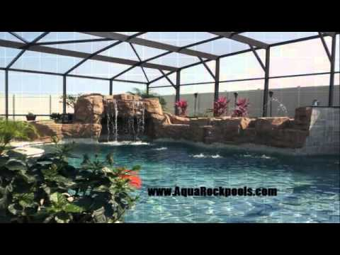 Awesome swimming pool waterfalls design ideas youtube for Pool kings design