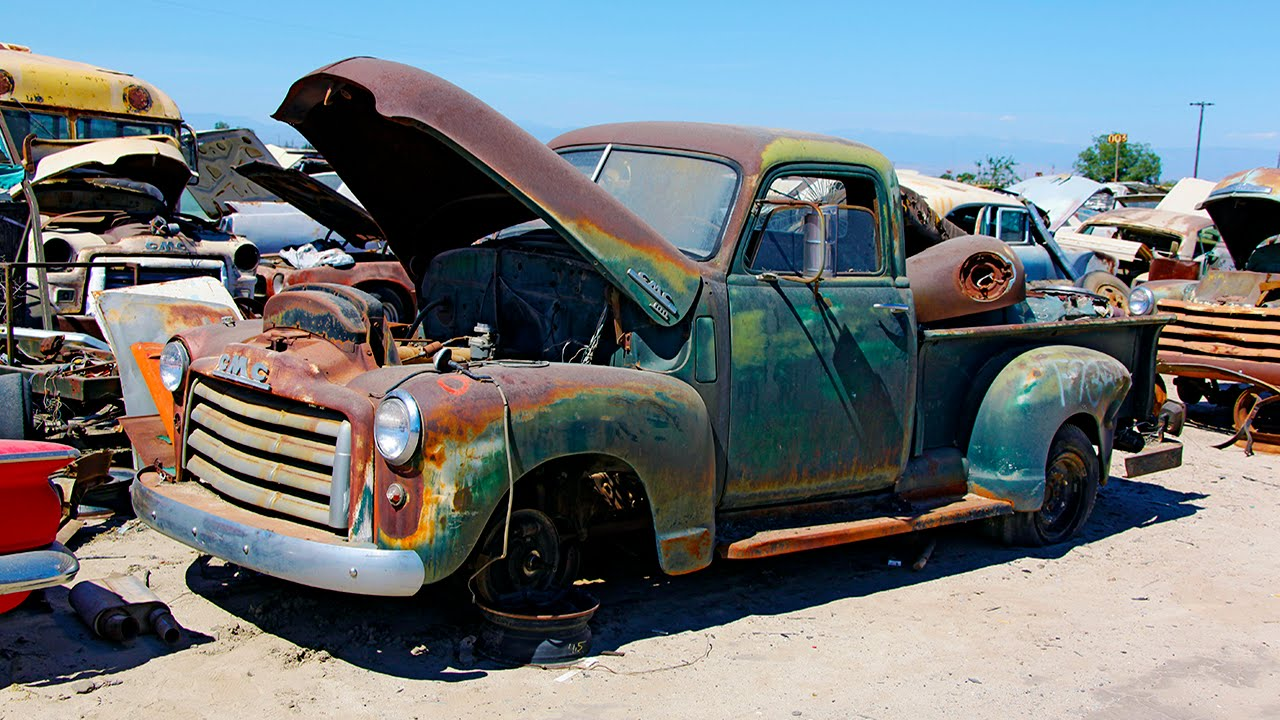 junkyard rescue saving a 1950 gmc truck roadkill ep 31. Black Bedroom Furniture Sets. Home Design Ideas