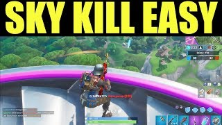 Éliminations à Sky Platforms Fortnite - Comment obtenir des éliminations à sky Platforms EASY!