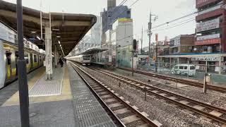 中央線特急E353系12両荻窪駅通過