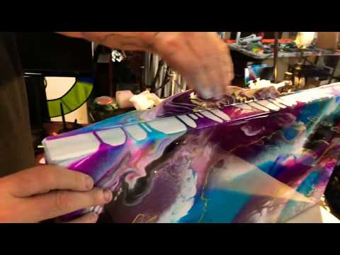 Removing drips and overflow from resin paintings (the easy way)