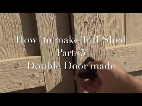 How To Make Tuff Shed Door