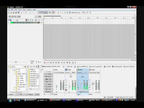 SM4SP: AcidPro7 Tutorial- Input Audio Monitoring