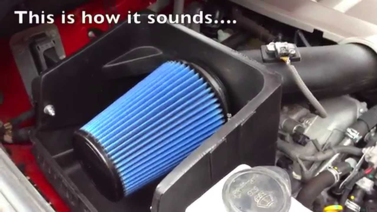 Sound Of Volant Cold Air Intake To My Toyota Tundra Youtube