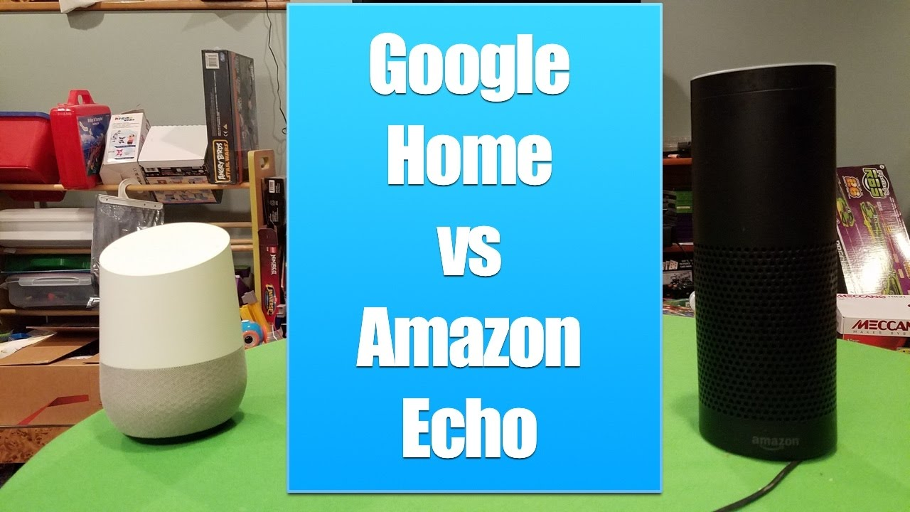 google home vs amazon echo review of the connected home speakers youtube. Black Bedroom Furniture Sets. Home Design Ideas