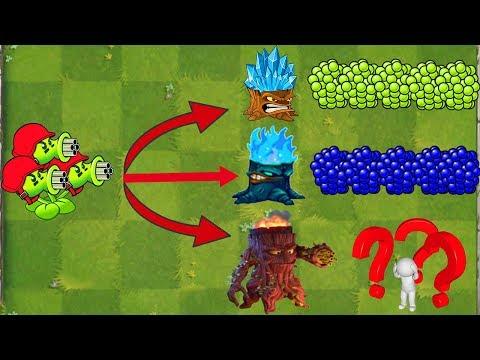 Plants vs Zombies 2 Mod - All Pea Vs Torchwood Vs Big Wave Beach Final Boss Fight!