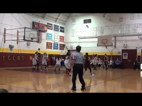 Staten Island Academy vs Curtis 12/12/15 Megan McEwan #1 White Jersey