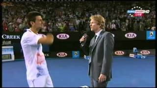 Djokovic Interview Ater Semi-Final vs Murray ( Australian Open 2012)
