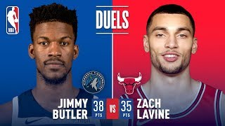 Jimmy Butler and Zach LaVine Duel in Chicago | February 9, 2018