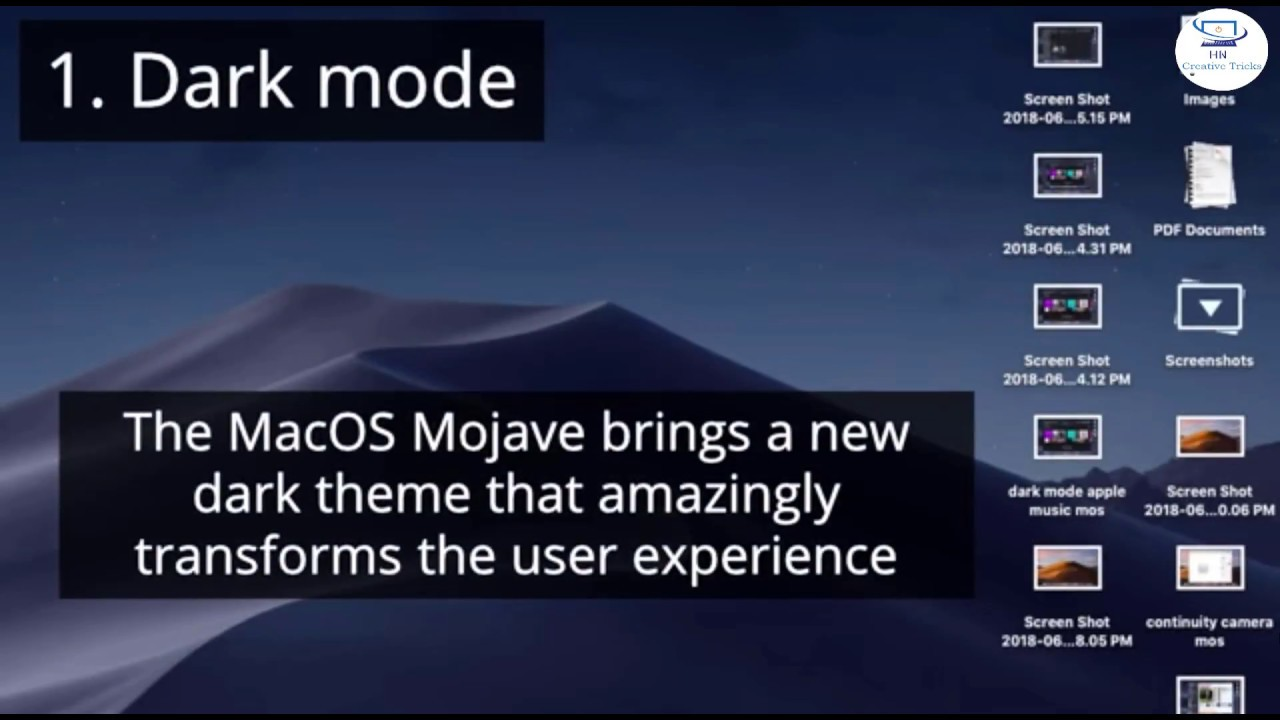 Download MacOS Mojave Top features