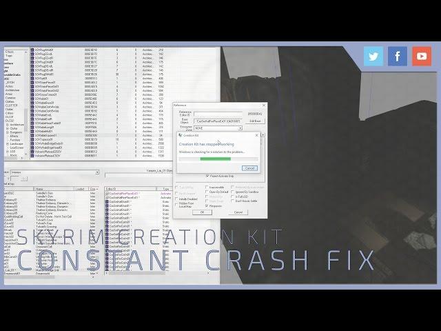 Skyrim Creation Kit | Constant Crash Fix - YouTube