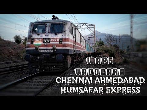 BRC WAP-5 30041 Chennai Ahmedabad Humsafar Express Skips Palasdhari Station