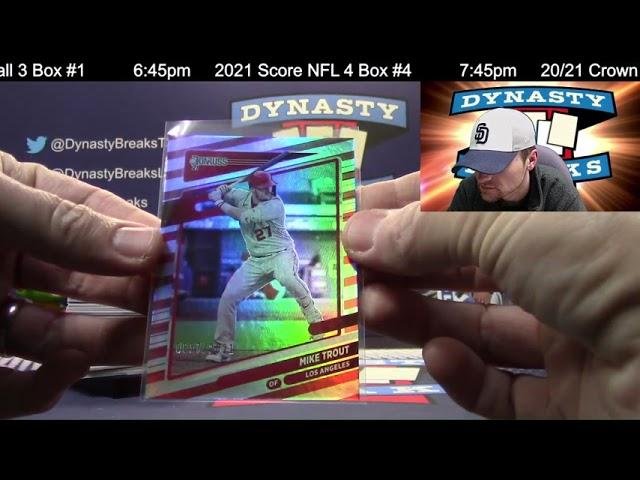 2021 Donruss Baseball Card 3 Box Partial Case Break #1   Sports Cards