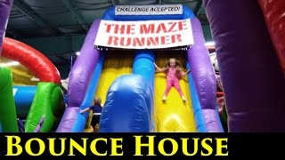 Huge Inflatable Indoor Playground for kids bounce house! Giant Slides Children Play Center Fun
