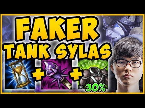 FAKER TANK SYLAS BUILD = 100% TOO MUCH HEALING! TANK SYLAS SEASON 9 TOP GAMEPLAY! League of Legends