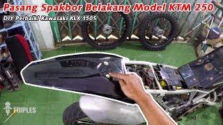 DIY Pasang Spakbor Belakang Model KTM 250 Ke KLX 150S Supermoto