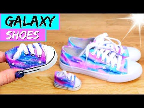DIY Galaxy Shoes for American Girl dolls!