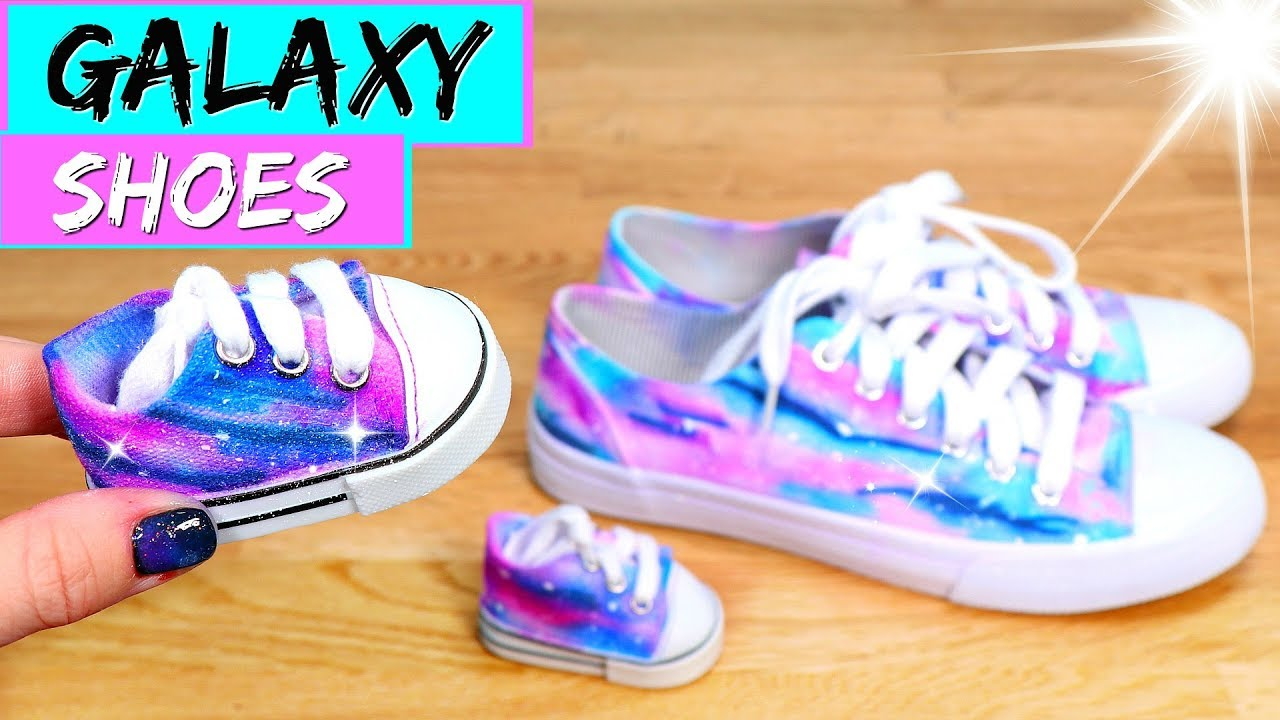 new arrival ac367 78938 DIY Galaxy Shoes for American Girl dolls!