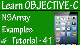 Free Objective C Programming Tutorial for Beginners 41 - NSArray in Objective C